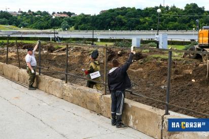 Колесо обо₽зения: на заливе вырубили голубые ели для установки нового аттракциона