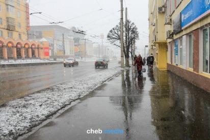 Фото: Апрельская метель в Чебоксарах