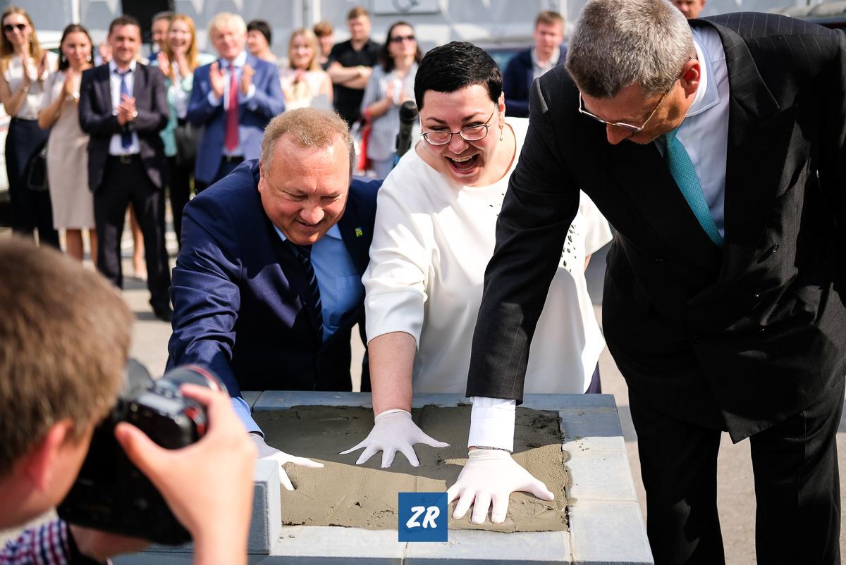 Как заложили первый камень нового автосалона «Чебоксары-Лада», Новочебоксарск