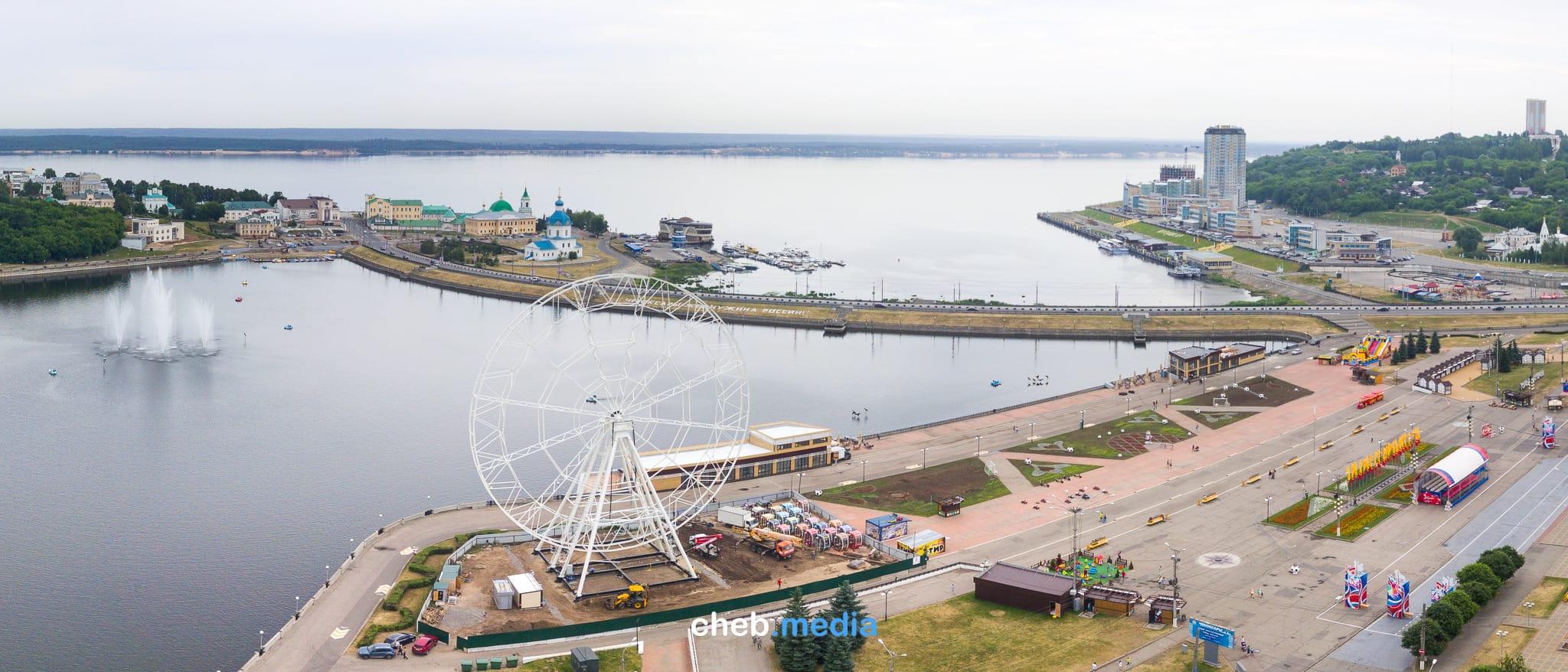 При строительстве нового колеса обозрения на заливе потеряли 15 метров