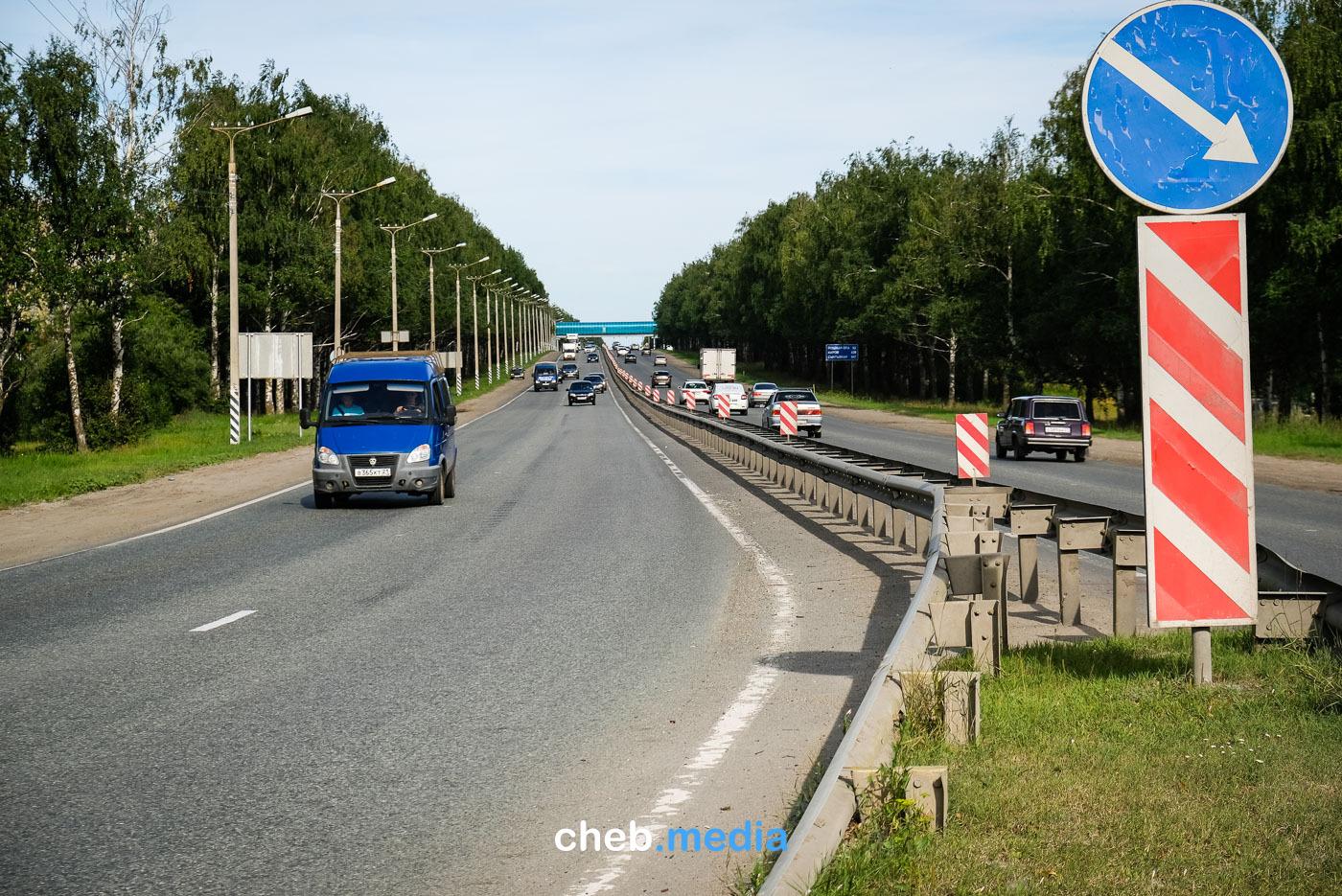 Отбойники на дороге Чебоксары-Новочебоксарск вернут к 1 сентября после замены асфальта